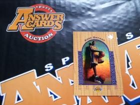 X007《答案卡世界》拍卖 1997 UD UD3 湖人传奇 科比 布莱恩特 新秀 木纹版 折射 特卡!!!