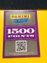 【Lucky球星卡店官方代拍-CON+0913】Panini 积分卡1500分,可在官网兑换礼品!只邮寄不给码!