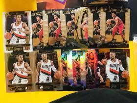 【Lucky球星卡店官方代拍-CON+0913】Panini Select 篮球 开拓者利拉德、哈克莱斯,骑士新秀塞克斯顿打包!