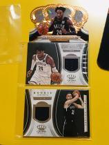 【Lucky球星卡店官方代拍-QG+0913】18-19 Panini Crown Royale 皇冠篮球 篮网球员打包!朗戴99编异形皇冠和球衣实物卡!新秀穆萨球衣实物卡!