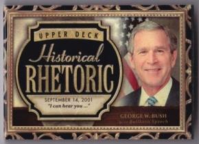 乔治布什 2015 UD 古德温 历史人物有声卡 超厚 美国总统