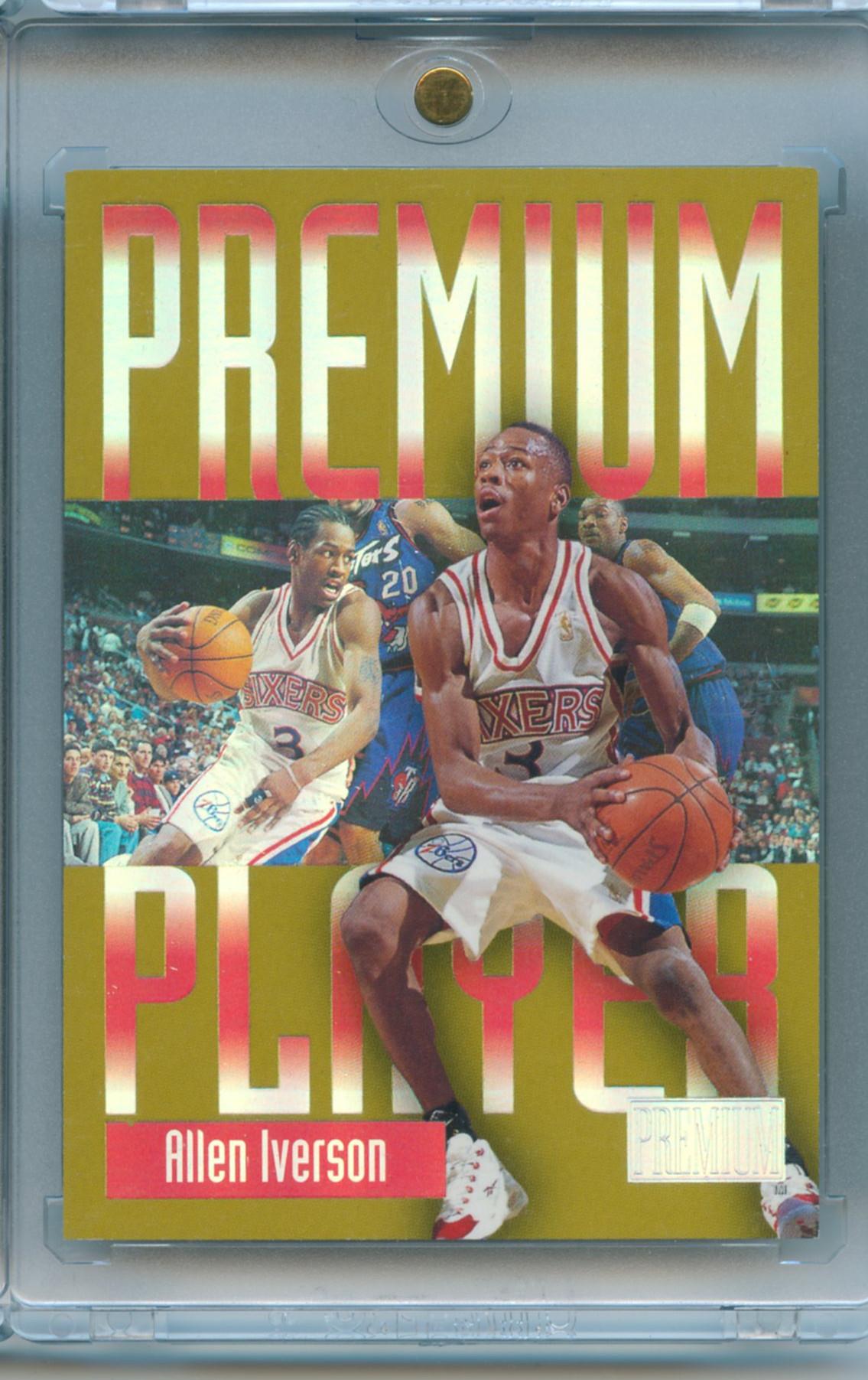 【PC 球星卡】1997-98 SKYBOX  阿伦 艾佛森 AI 得分王 MVP 折射 Prremium Player 老卡稀少 大比例 带全新卡砖!