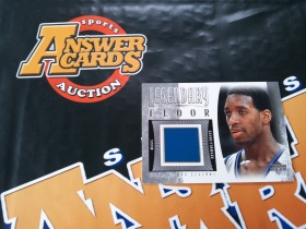 X007《答案卡世界》拍卖 2001 UD传奇 魔术队 麦迪 实物 地板卡!!!