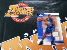 X007《答案卡世界》拍卖 2003 UD sweet shot 魔术队 麦迪 实物 球衣卡!!!