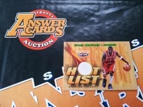 X007《答案卡世界》拍卖 0405 hoops 火箭队 麦迪 实物 球衣卡!!!卡品如图