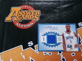 X007《答案卡世界》拍卖 0304 skybox签字系列 魔术队 麦迪 蓝版 限量350编 球衣卡!!!卡品如图