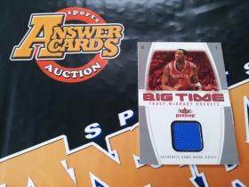 X007《答案卡世界》拍卖 0405 fleer系列 火箭队 麦迪 限量49编 球衣卡!!!