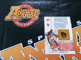 X007《答案卡世界》拍卖 2001 UD SP GAME USED 篮网队 马布里 实物 地板卡!!!