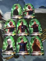 Z【DL】<<苏州卡通球星卡>> 影视 UD 漫威 复仇者联盟3 复联 绿色 时间宝石 8张一起 红女巫 钢铁侠 等7张全套 多张蜘蛛侠(此版本厚卡,切割后边角容易白)