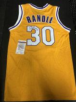 「老夫子」拍卖  999   DA 签名球衣盒出品  无盒  湖人 兰德尔 randle  签名球衣 有证书 球衣版本不知 无商标 此标不累计只发顺丰到付