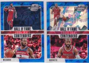 DSH.18-19 Panini Contenders 球票折射系列 Hall Of Fame Contenders 蓝碎冰特卡2张 沃尔 保罗