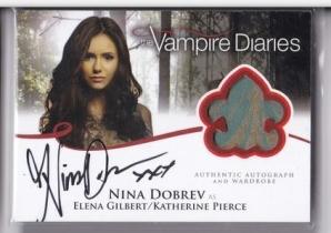 影视明星卡 《吸血鬼日记》妮娜杜波夫 埃琳娜 签字签名卡 2012