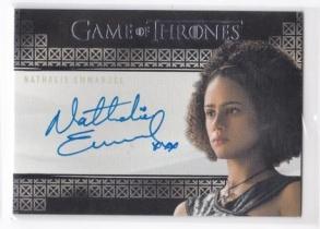 美剧卡 《权利的游戏》娜塔莉 伊曼纽尔 签字签名卡 弥桑黛 2017 HBO