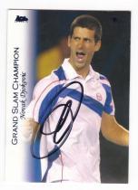 网球球星卡 诺瓦克 德约科维奇 签字卡 ACE 2012 大满贯冠军