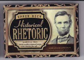 亚伯拉罕 林肯 2015 UD 历史人物有声卡 超厚 美国总统