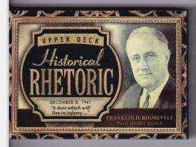 富兰克林 罗斯福 2015 UD 历史人物有声卡 超厚 美国总统