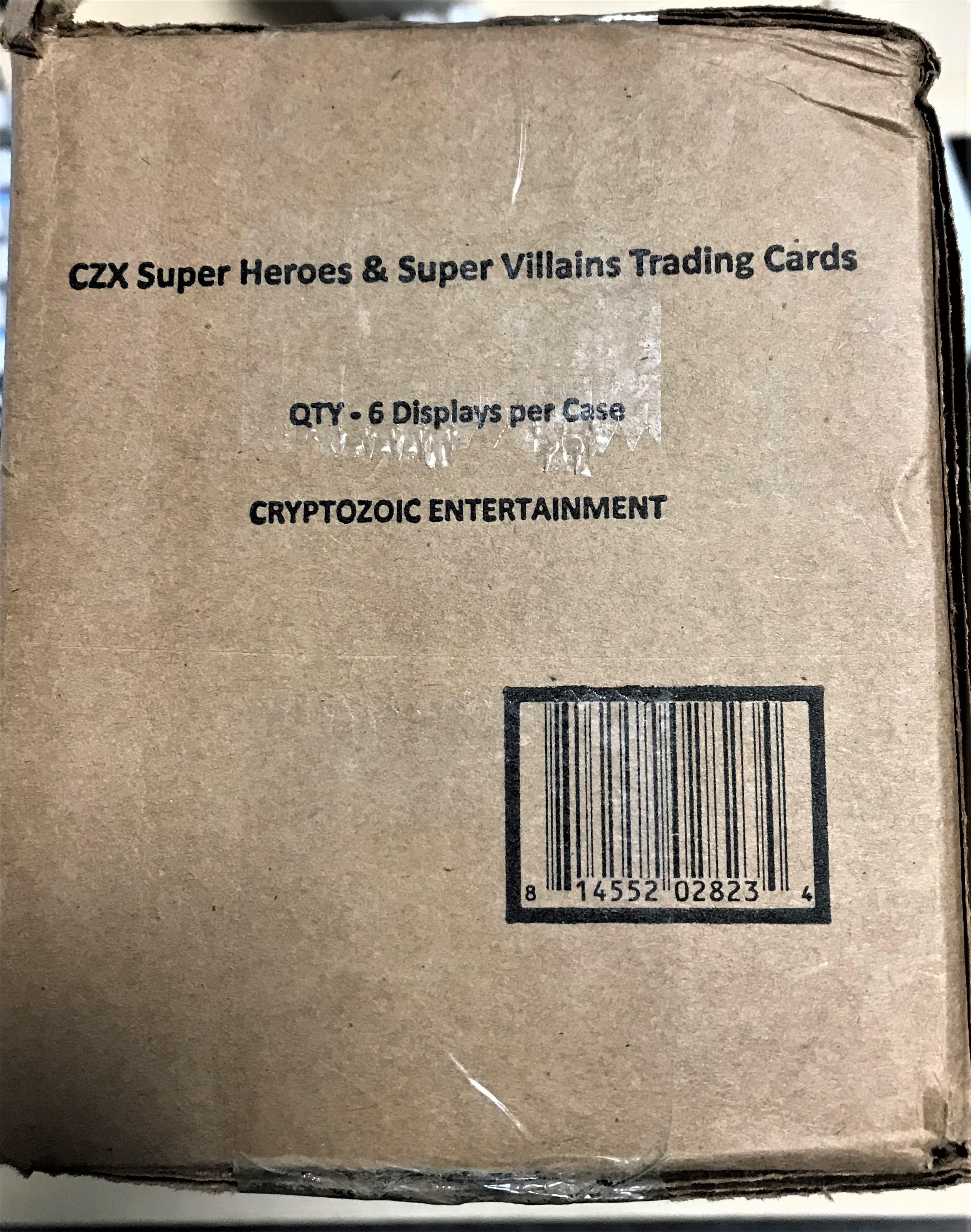 DC CZX 超级英雄与反派 原箱 1箱6盒 每盒保1签字、1手绘、1胶片特卡、2个带编、星星特卡等 可博1/1!(cwg)