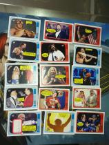 【1118】<<苏州卡通>> 残套 2012 WWE格斗 复古 特卡 15张不同一起,缺5张成套 各种传奇 好人 美女 巨石(品如图)