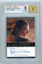 美剧卡 娜塔莉 多默尔 签字卡 玛格丽 提利尔 2012 HBO 权利的游戏 评级9