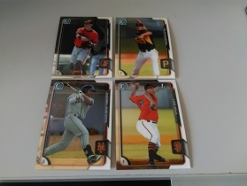 2015 BOWMAN CHROME 棒球系列 4张打包