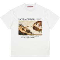 RAVENOUS(RVNS)油画系列短袖潮牌休闲宽松情侣男女T恤