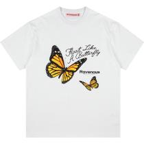RAVENOUS(RVNS)蝴蝶系列短袖潮牌休闲宽松情侣男女T恤