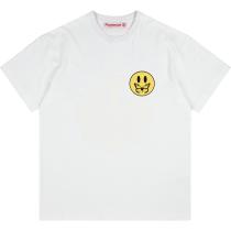 RAVENOUS(RVNS)笑脸蝴蝶字母短袖男女宽松潮牌情侣T恤