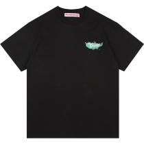RAVENOUS(RVNS)烟雾蝴蝶印花短袖男女潮牌宽松情侣T恤