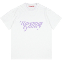 RAVENOUS(RVNS)字母印花后背蝴蝶短袖男女潮牌情侣T恤