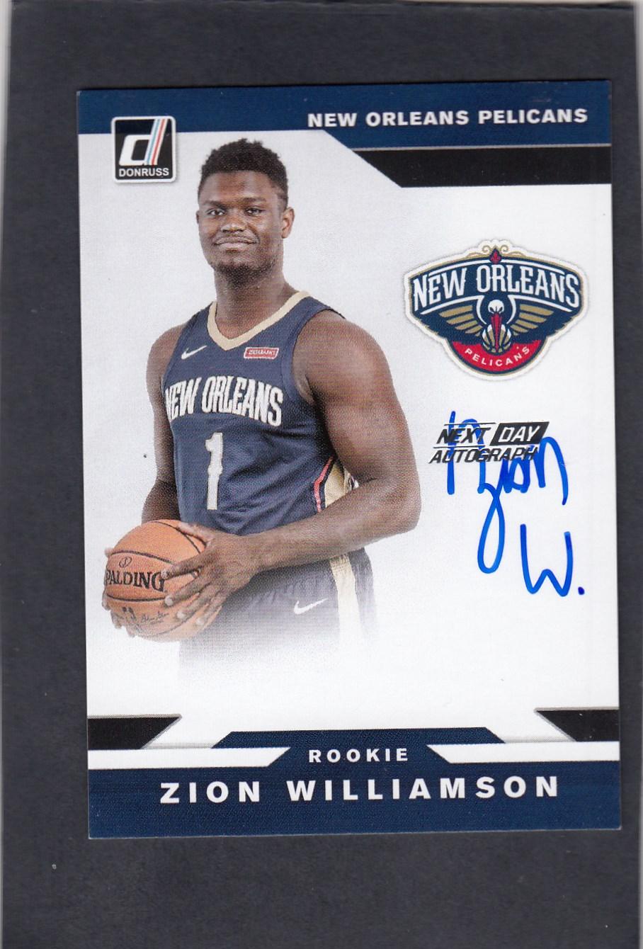 Zion Williamson 胖虎 蔡恩威廉姆斯 2019-20 Donruss Next Day RC 新秀 签字 SP 卡签 中的 经典版本