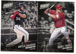 2017 PANINI BLACK FRIDAY 棒球 布莱斯·哈珀  特劳特 两张打包