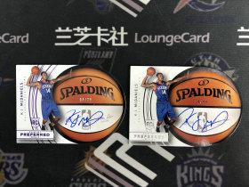 【LZK638】2014-15 Preferred 系列 76人 RC 新秀 K.J.麦克丹尼尔斯 半球签字 卡签 20编 99编 一图打包!