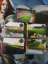 【1118】<<苏州卡通>> 足球 意甲 2001 球场 5张一起 国米 佛罗伦萨 等 看画必备(老卡,边角一般)