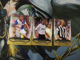 【1118】<<苏州卡通>> 足球 英超 2003 3张特卡一起 阿兰·希勒等 背面图有贝克汉姆 看画必备(老卡,边角一般)