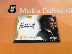 【MOKA魔卡球星卡】#201441 CZX 影视 蝙蝠侠 Nestor Carbonell 内斯特卡博内尔 饰演哥谭市长 亲笔签字 74/210