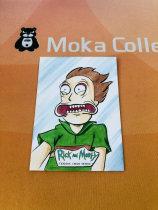 【MOKA魔卡球星卡】#201444 Rick And Morty 瑞克莫蒂 精美手绘 Hit卡 1/1 一遍 画师在背面 表情画的很生动