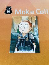 【MOKA魔卡球星卡】#201445 Rick And Morty 瑞克莫蒂 精美手绘 主角 莫蒂史密斯 Hit卡 1/1 一遍 画师在背面