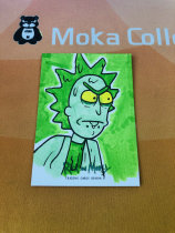 【MOKA魔卡球星卡】#201446 Rick And Morty 瑞克莫蒂 精美手绘 主角 疯狂科学家 瑞克桑切斯 Hit卡 1/1 一遍 画师在背面