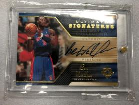 2004-05 UD ULTIMATE COLLECTION Ben Wallace(大本)终极签字卡