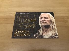 [欧皇拍卖]HBO 权力的游戏 金笔签字 伊伦·葛雷乔伊 迈克尔·菲斯特 实卡美爆!专收必备!
