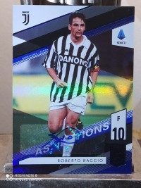 2020 Panini Chronicles Elite Roberto Baggio 巴乔 尤文图斯 蓝折 首版 签字 编号:10/90 同背 1/1