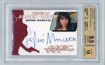 007影视剧 苏菲 玛索 签名签字卡 1962-2002 BGS评级卡9.5 签名10 O2005102