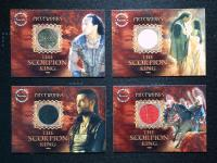 【OFFER】2002 INKWORKS THE SCORPION KING LOT,魔蝎大帝,蝎子王,PW 1~4,一套四张,实物卡打包!