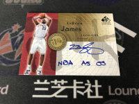 "【LZK48】2005-06 UD SP SIGNATURE EDITION 系列 骑士 勒布朗·詹姆斯 铭文签 卡签 50编 ""NBA AS 05""绝世好卡!"
