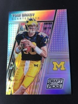 NFL 橄榄球 NCAA 密歇根 TOM BRADY 布雷迪 复古大学 银折射。