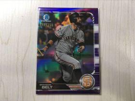 (尤金拍卖)TOPPS 2019 CHROME 棒球系列!大联盟 旧金山巨人 一垒 布兰顿 贝尔特 250编 紫折折射!品相如图!—ON