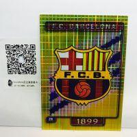 【艾之魂】2004 MC 西甲 巴萨 巴塞罗那 队徽 队标 折射卡 logo卡 美如画 边角有瑕疵【卡比兽】