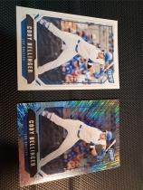 科迪·贝林杰(Cody Bellinger) 帕尼尼展会包 限量/99编射折 BASE 2张一起 MLB棒球洛杉矶道奇队 MVP 打进世界大赛冠军赛