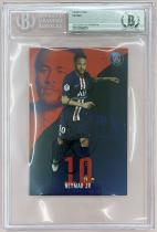 包邮!19-20内马尔大巴黎签字官方卡BGS/BAS评级认证签名巴黎圣日耳曼银标巴西队明信片大尺寸卡Neymar同PSA/DNA属于保真签字IP场签非球星卡