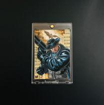 炮火佳丽手绘卡发挥无敌ap 力量肌肉男蝙蝠侠